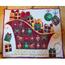 Sleigh Advent Calendar- Handmade