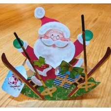 Handmade 3D Father Christmas rocker card