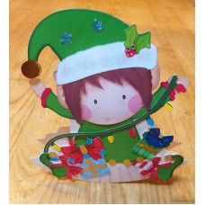 Handmade 3D Christmas Elf rocker card
