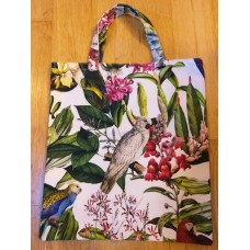 Practical handmade Parrot and Friends bag