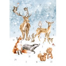 Christmas advent calendar Card - Forest Animals